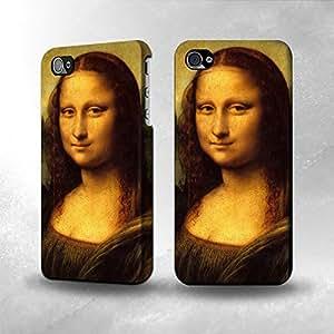 Apple iPhone 4 / 4S Case - The Best 3D Full Wrap iPhone Case - Leonardo da Vinci Mona Lisa