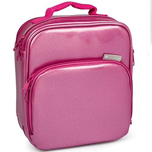 Insulated Durable Lunch Bag - Reusable Meal Tote With Handle and Pockets (Pink Metallic) by Bentology