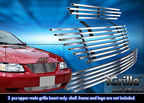 Stainless Steel eGrille Billet Grille Grill Combo For 1999-2004 Ford Mustang GT - Ford Grille Billet Grill Mustang