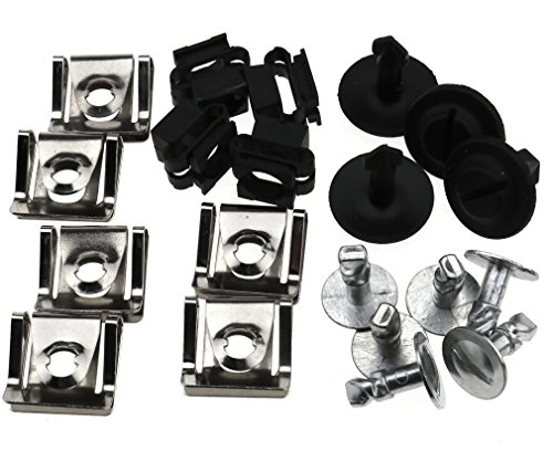 Micro Trader 20X Undertray Guard Engine Under Cover Fixing Fit Clips Kit for Audi A4 A6 AU VW (Audi A4 Passat)