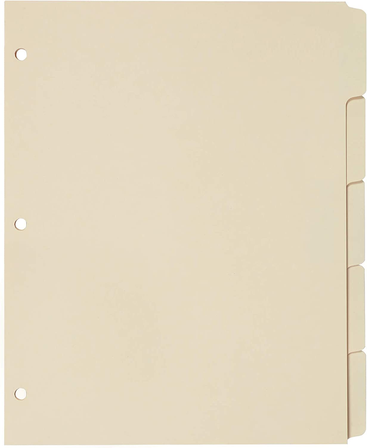 Oxford Blank Write-On Binder Dividers, 5-Tab, 1/5 Cut, 3-Hole Punched, Letter Size, Manila, 20 Sets Per Box (13V)