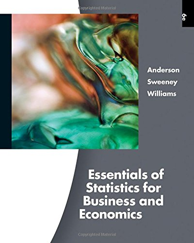 Essentials of Statistics for Business and Economics (with Online Content Printed Access Card) (Available Titles Aplia)