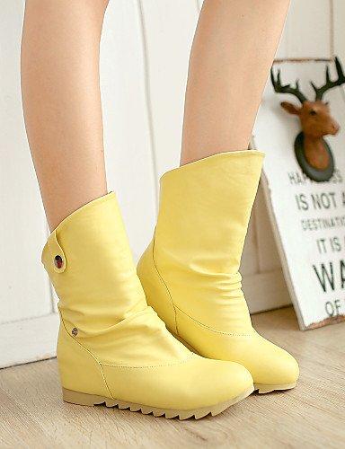 Zapatos A Mujer Eu40 Uk7 Botas us9 Exterior De Comfort Oficina Cn41 Yellow La Trabajo Moda Casual Plataforma Uk Y amarillo Beige Semicuero Vestido Xzz us9 dCqwFxYd