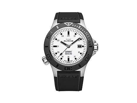 Reloj Automático Glycine Combat Sub Aquarius, GL 224, Blanco, 46mm, GL0037: Amazon.es: Relojes