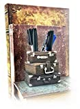 Suitcase Pen Holder Pencil Cup Writing Utensils Desktop Office Vintage Decor Paper Weight