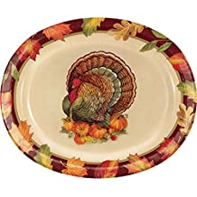 Creative Converting 324019 Party Creations Paper Platter, Turkey Traditional