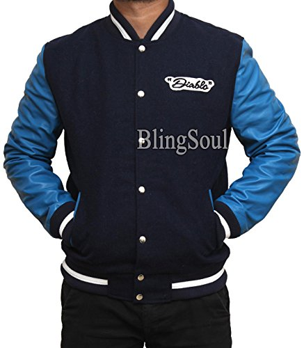 Jay Squad Blue Varsity Jacket Costume (XL, Blue and Black)