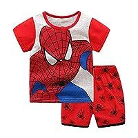 Meteora Boys Short Pajamas Toddler Kids Super Hero PJS Snug Fit Sleepwear Summer Clothes Shirts