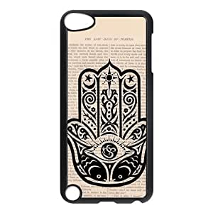 Beautiful Customized iPod 5 Case Hard Plastic Material Cover Skin For iPod iTouch 5th - Evil Eye Hamsa