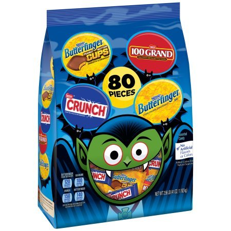 NESTLE Assorted Halloween Candy Chocolate 80 pieces, 41 oz Bag ()