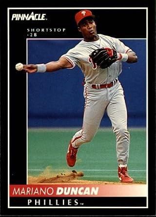 Amazoncom 1992 Pinnacle Baseball Card 377 Mariano Duncan Mint