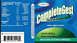 Enzymatic Therapy CompleteGest, Mealtime Enzyme Formula, 180 Capsules