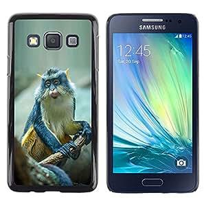 Be Good Phone Accessory // Dura Cáscara cubierta Protectora Caso Carcasa Funda de Protección para Samsung Galaxy A3 SM-A300 // cute small ape monkey exotic tropical