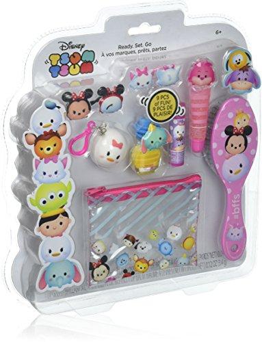 TownleyGirl Disney's Tsum Tsum Cosmetic Set with lip balm, gloss, hair ties, brush, nail polish and more (Polish Spa Gloss)