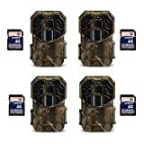 Stealth Cam G45NG 14MP IR No Glo Infrared Game Trail Cameras (4 Pack) + SD Cards For Sale