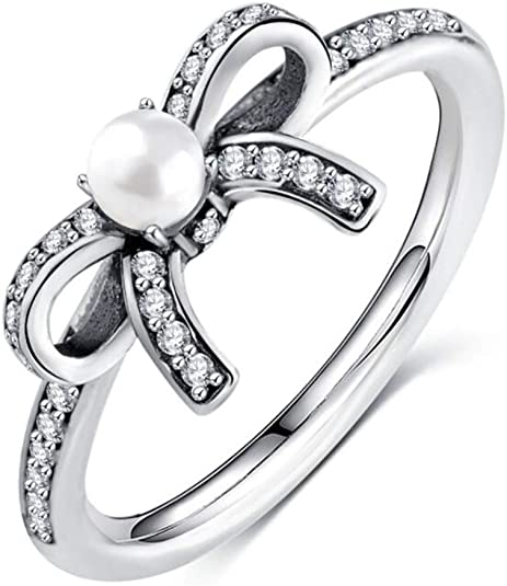Sterling Silver Ladies Floral Design Fashion Ring accented with Diamond Simulants