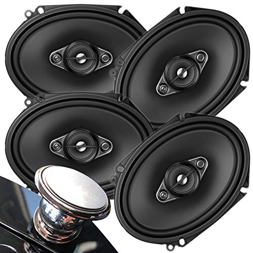 2 Pairs of Pioneer 5x7/ 6x8 Inch 4-Way 350 Watt Car Audio Speakers | TS-A6880F (4 Speakers) + Magnet
