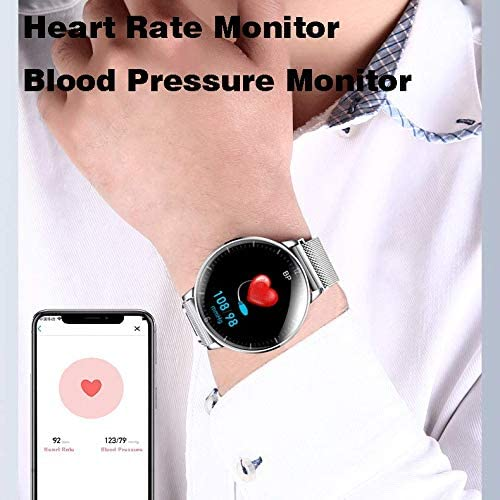 AIWATCH Smart Watch 2020 Version for Men Women Sleep Tracking Analysis Fitness Tracker Blood Pressure Monitor Heart Rate Monitor IP68 Waterproof Compatible with iPhone Samsung Android Phones (Black) 51LksDUj55L