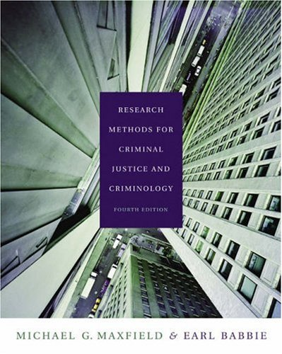 Research Methods for Criminal Justice and Criminology (with CD-ROM and InfoTrac) (Available Titles CengageNOW)