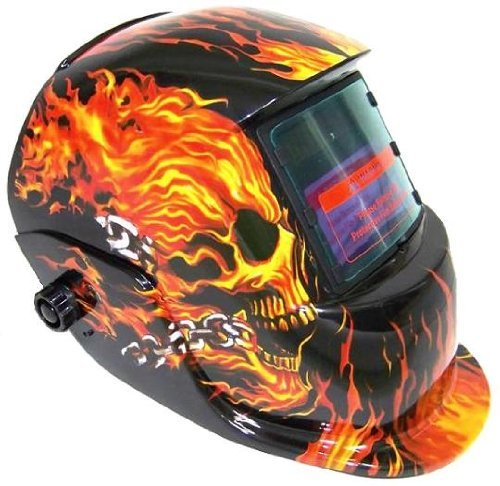 Zehui Flame Skeleton Hood Helmet Pro Solar Auto Darkening Mask - Solar/C.P.S (Rorschach Halloween Mask)