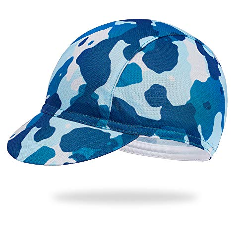 Cycling Caps Helmet Liner Caps Quickly Dry Riding Hats, Breathable, Lightweight, Anti Sweat Sun Proof Cycle Hats for Beginners Knights Camouflage Blue