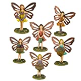 Grasslands Road Miniature Fairy Figurine Assortment, 4-Inch, 6-Pack