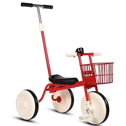 hj Bicicleta De Triciclo para Niños De 1 A 3 Años Cochecito De Bebé Cochecito Ligero