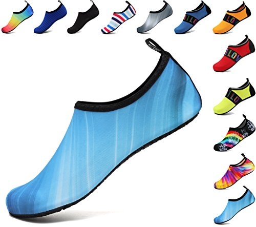 adituob Socken Aqua Schwimmen Herren Wasser Pool Sportschuhe Blau für Damen Strand Barfuß Schrittweise üben CIqErIXw