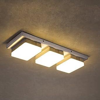 led bianco caldo di illuminazione a soffitto lampada alhakin 3 ... - Illuminazione Soggiorno E Sala Da Pranzo 2