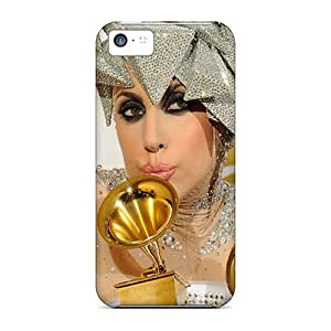 HeatherPA AgR7433UayC Case Cover Iphone 5c Protective Case Lady Gaga
