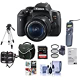 Canon EOS Rebel T6i DSLR Camera with EF-S 18-55mm f/3.5-5.6 IS STM Lens - Bundle w/Camera Case, 64GBClass 10 SDHC Card, Filter Kit, Cleaning Kit, Tripod, Remote Shutter, Software Package and More