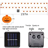 TONOS Solar Pumpkin String Lights 40 LEDs 17 ft
