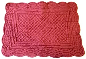 Amazon Com Set Of 4 Pcs 13x19 Inches Scallop Quilted