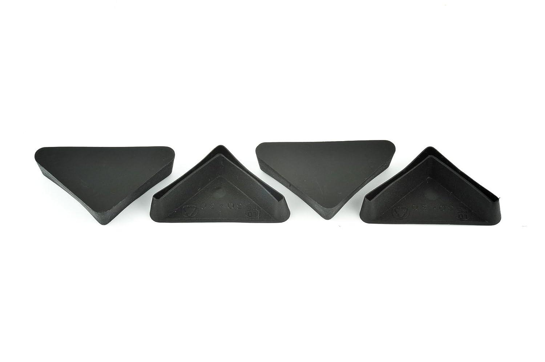 fabricado en Alemania /Ángulo de hierro pie Protector pl/ástico End Cap Acero estanter/ía accesorio de pierna muebles