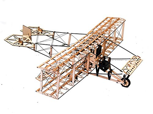 Static Model Wood DIY kit Curtiss Pusher 500mm Wingspan Airplane Models Building Craft Wood Furnishing