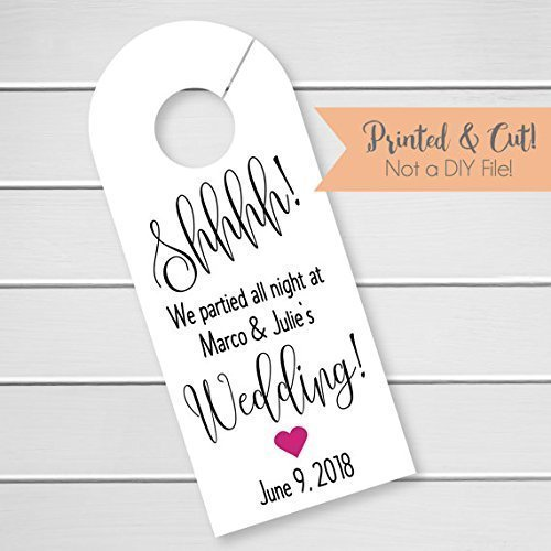 Ideal Amazon.com: Wedding Door Hanger, Custom Hotel Door Hangers  VI84
