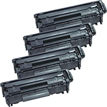 4 Inkfirst® Toner Cartridge 104 (0263B001AA) Compatible Remanufactured for Canon 104 FX9 FX10 Black FAXPHONE L100 L120 L90 imageCLASS MF4150 MF4270 MF4350D MF4370DN MF4690 D480