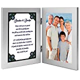 Gift for Grandma and Grandpa - Cute Poem in Double Frame - Add Photo