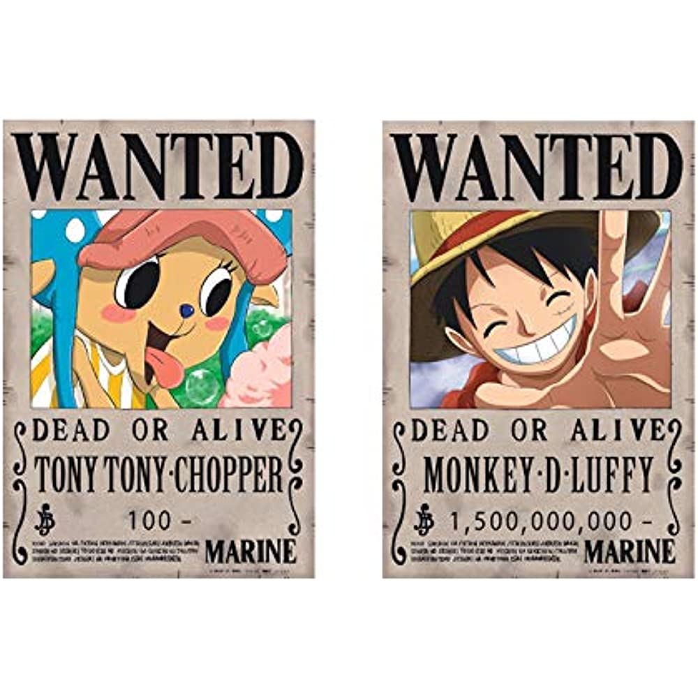 Details About Bamboos Grocery One Piece Wanted Posters 42cm29cm New Edition Luffy 15 Set