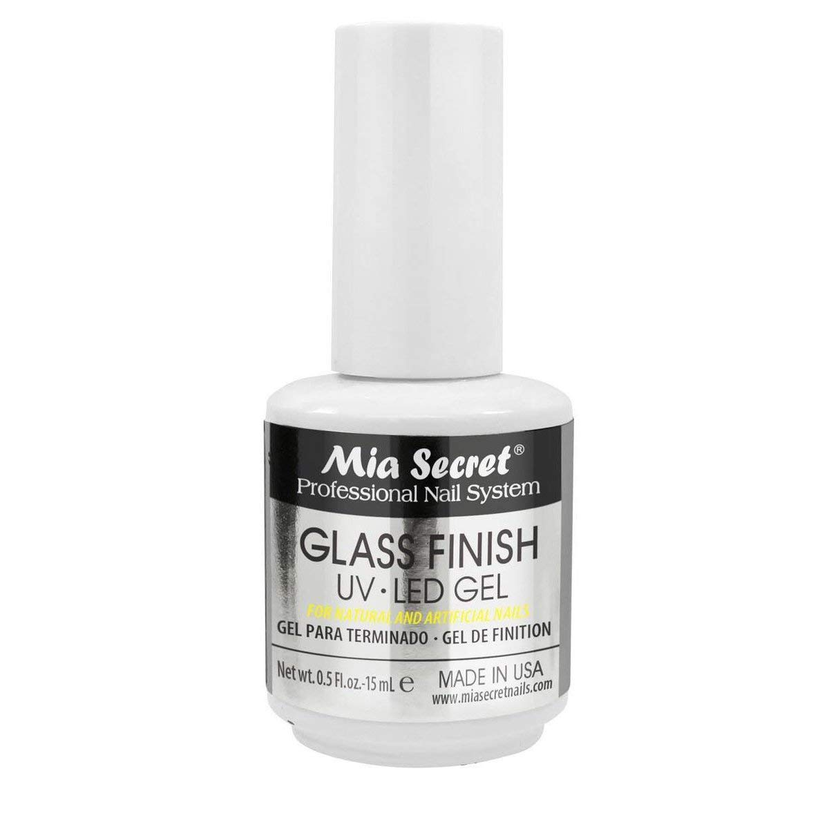 Mia Secret Chrome Mirror Nail Powder Glass Finish UV LED Gel (GLASS FINISH GEL)