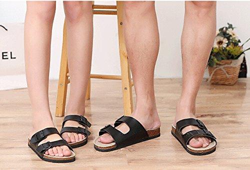 Mannen Vrouwen Zomer Strand Slippers Mode Causale Vrije Tijd Zachte Platform Antislip Huis Platte Sandalen Schoenen Zwart