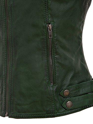 vert cuir de femmes les couleur sportives veste fonc en I0PxPw