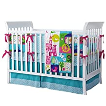 Turquoise 7pcs crib set Baby Bedding Set Crib Bedding Set Girl Nursery Crib Bumper bedding Fitted Sheet
