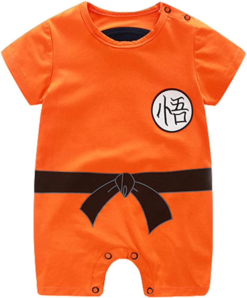 YEMOCILE Dragon Ball Z Design Baby Boys Girls Pagliaccetto Cosplay Costume Goku...