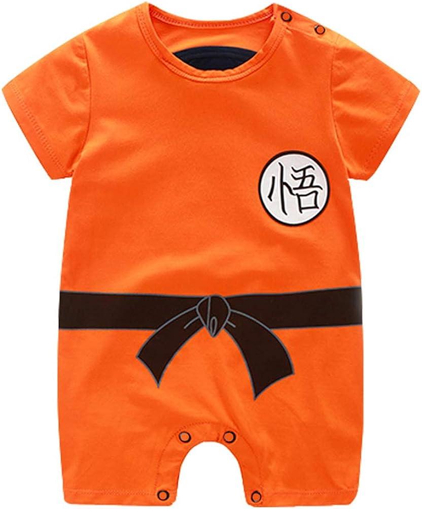 YEMOCILE Dragon Ball Z Diseño Bebé Niños niñas Romper Cosplay Disfraz Inspirado en Goku Infantil Equipar Mono Ropa