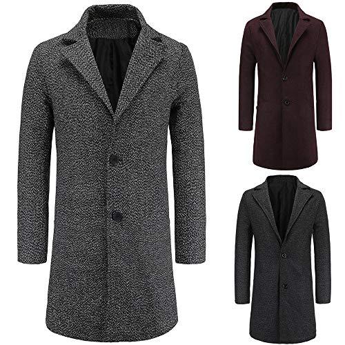 Manteau Automne Homme Trench Laine Pardessus Taille Foncé Grande Outwear Hiver overdose Long Soldes Vintage Noir Gris Coat En zqSwzr