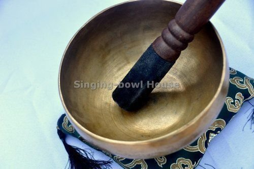 6'' Superb Crown Chakra Tibetan Singing Bowl for Meditation, Sound Healing, Yoga & Sound Therapy. Made of 7 metals. Cushion & Suede leather Wooden Mallet Tingsha Cymbals~Handmade in Nepal by Thamelmart by TM THAMELMART FOR BEAUTIFUL MINDS (Image #4)