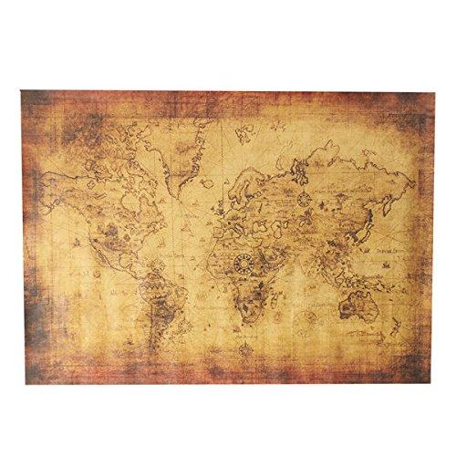 Bazaar 28x20 Inch Vintage Style Poster Antique World Map Treasure Map by Big Bazaar