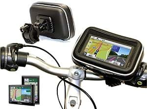 "Navitech Soporte Y Funda Protectiva Impermeable Para Sistema GPS Para Bici / Bicicleta / Moto / Motocicleta Hasta 10.9cm (4.3"") Incluso TomTom"