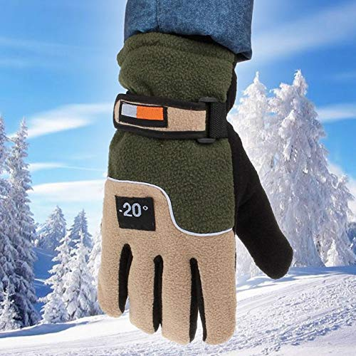 MOJITO LIVING Women Men Winter Snowboard Gloves Windproof Full Skiing Warm Gloves Protection Outdoor Camping Hiking Cycling Christmas Gloves